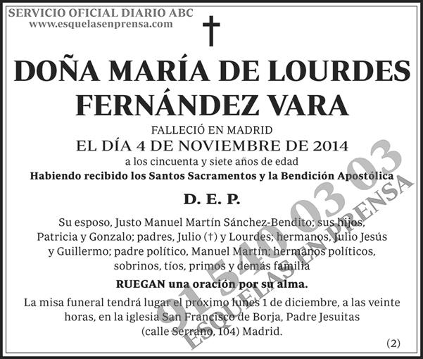 María de Lourdes Fernández Vara